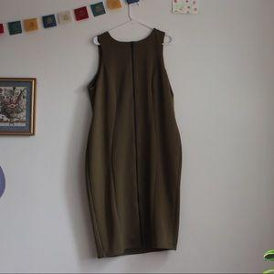 ASOS Curve Dresses - Asos Curve Olive Green Zip up Dress